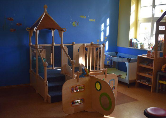 Kita Lebus Untergeschoss Raum für die Jüngsten